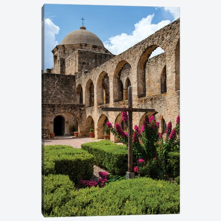 Arched Portico at Mission San Jose in San Antonio Canvas Print #LDI16} by Larry Ditto Canvas Artwork