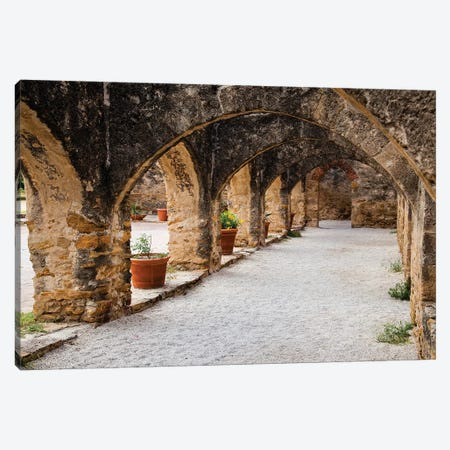 Arched Portico at Mission San Jose in San Antonio Canvas Print #LDI17} by Larry Ditto Canvas Artwork