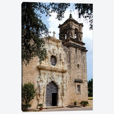 Artistry and Craftsmanship at Mission San Jose in San Antonio Canvas Print #LDI18} by Larry Ditto Canvas Print