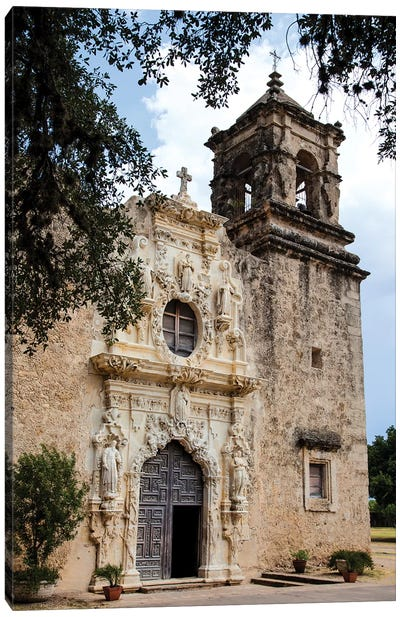 Artistry and Craftsmanship at Mission San Jose in San Antonio Canvas Art Print