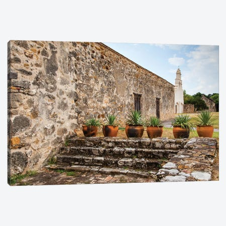 Mission San Juan Capistrano on the San Antonio Missions Trail. Canvas Print #LDI19} by Larry Ditto Art Print