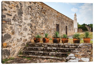 Mission San Juan Capistrano on the San Antonio Missions Trail. Canvas Art Print