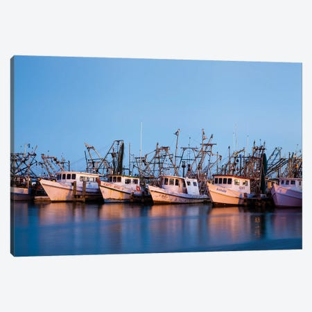 Fulton Harbor and oyster boats Canvas Print #LDI7} by Larry Ditto Canvas Art Print