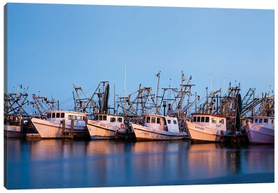 Fulton Harbor and oyster boats Canvas Art Print