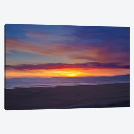 Ocean IX Canvas Print #LDN21} by Sally Linden Canvas Art Print