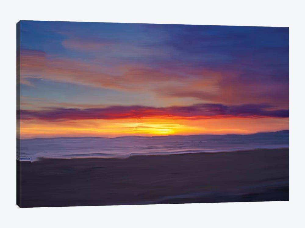 Ocean IX by Sally Linden 1-piece Canvas Art