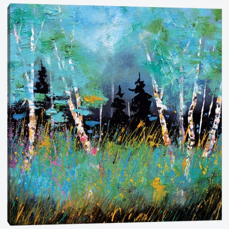 A few aspen trees Canvas Print #LDT102} by Pol Ledent Canvas Print