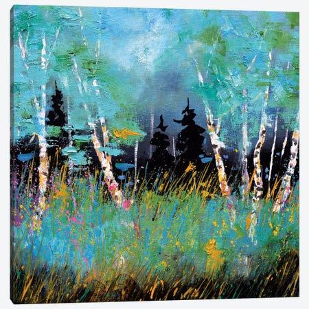 A few aspen trees Canvas Print #LDT102} by Pol Ledent Canvas Print