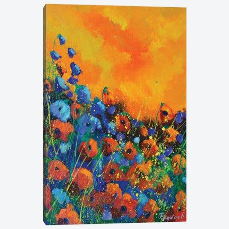 Orange poppies Canvas Print #LDT124} by Pol Ledent Canvas Wall Art