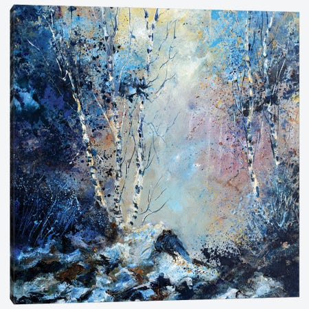 Misty Wood Path Canvas Print #LDT13} by Pol Ledent Canvas Art