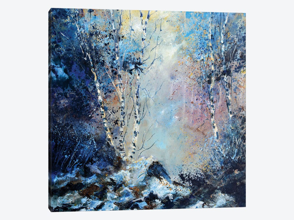 Misty Wood Path 1-piece Canvas Artwork