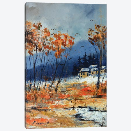 First snow Canvas Print #LDT147} by Pol Ledent Canvas Art