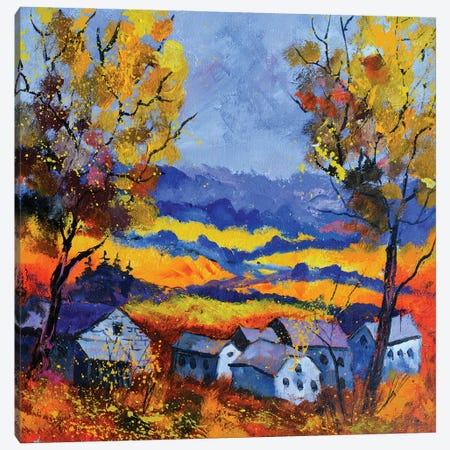 Autumn In Ouroy Canvas Print #LDT14} by Pol Ledent Art Print