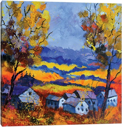 Autumn In Ouroy Canvas Art Print