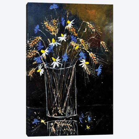 A still life with field flowers Canvas Print #LDT157} by Pol Ledent Art Print