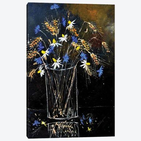 A still life with field flowers Canvas Print #LDT157} by Pol Ledent Art Print