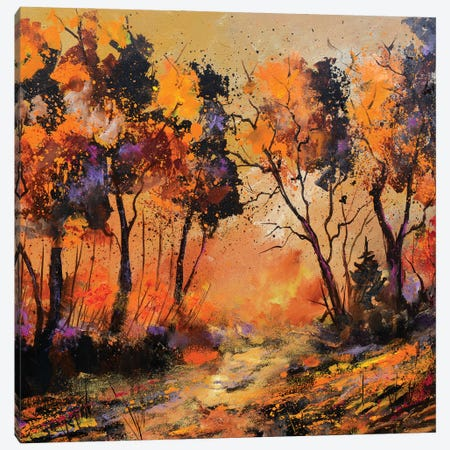 Sunset Canvas Print #LDT15} by Pol Ledent Art Print
