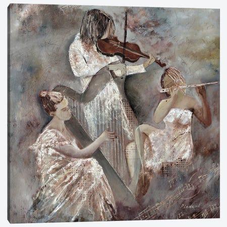 Musicians Trio Canvas Print #LDT170} by Pol Ledent Canvas Wall Art