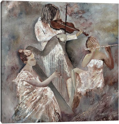 Musicians Trio Canvas Art Print