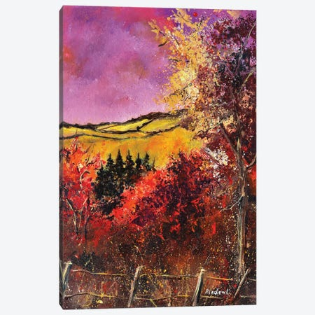 Autumn In Ardennes Canvas Print #LDT181} by Pol Ledent Art Print