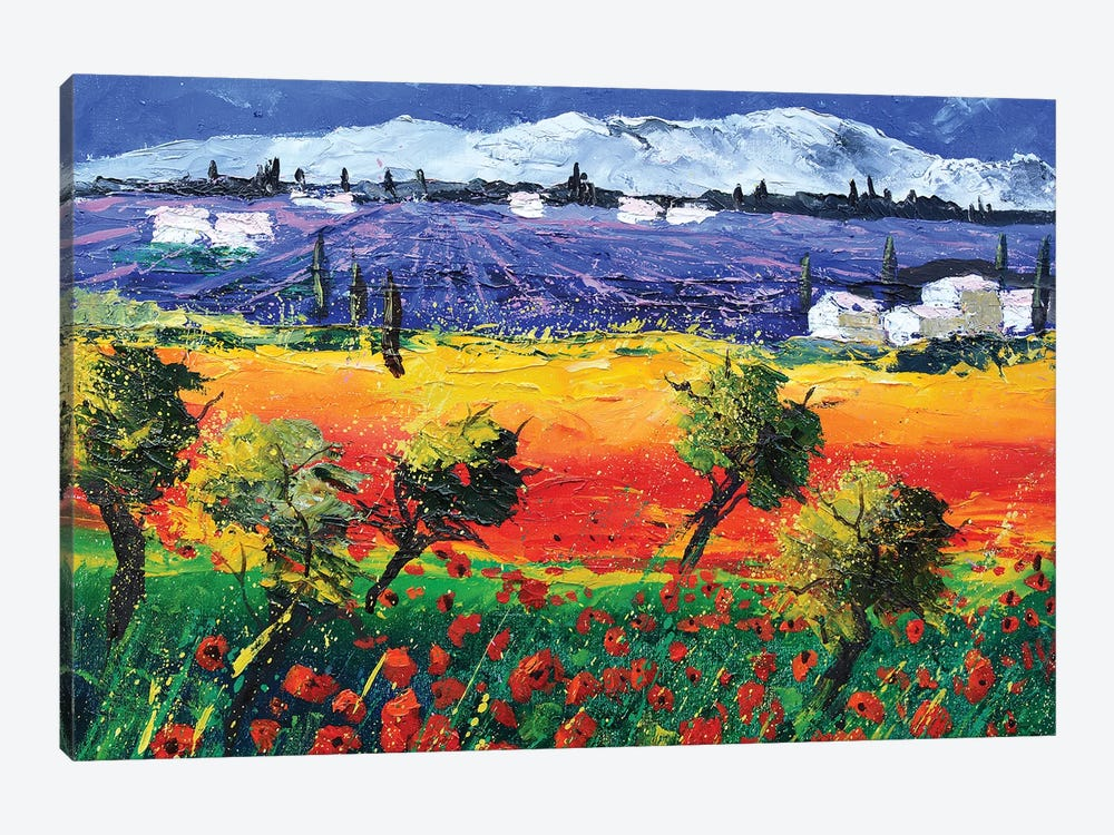 Red Poppies In Provence by Pol Ledent 1-piece Art Print