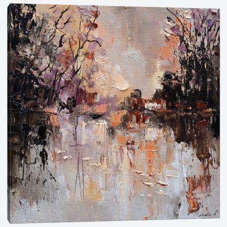 Pond In Autumn Canvas Print #LDT192} by Pol Ledent Canvas Wall Art