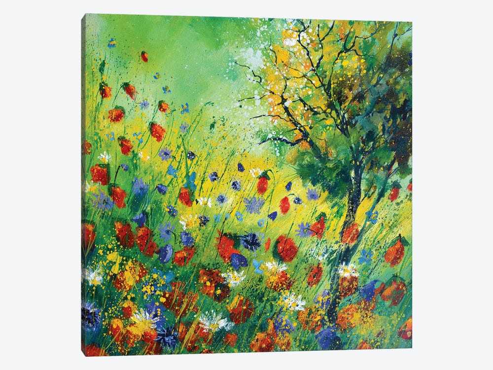 Poppies And Cornflowers by Pol Ledent 1-piece Canvas Art