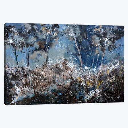 Winter In The Wood Canvas Print #LDT1} by Pol Ledent Canvas Wall Art