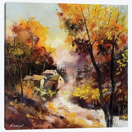 Misty Autumn Canvas Print #LDT209} by Pol Ledent Canvas Wall Art