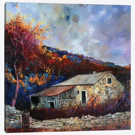 Old Countryhouse Canvas Print #LDT20} by Pol Ledent Canvas Print
