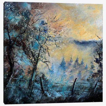 Misty Blue Morning Canvas Print #LDT217} by Pol Ledent Canvas Artwork