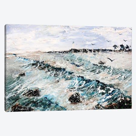 Seascape Canvas Print #LDT219} by Pol Ledent Canvas Print