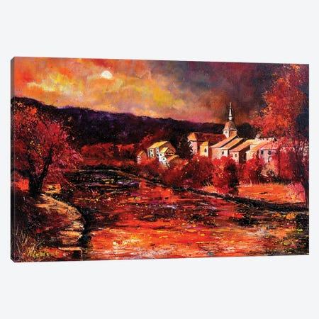 Village In Autumn Canvas Print #LDT221} by Pol Ledent Canvas Artwork