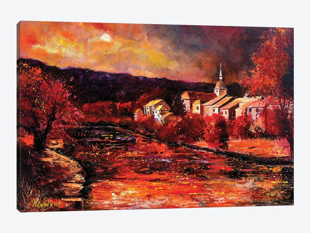 Village In Autumn by Pol Ledent 1-piece Art Print