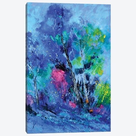 Blue Trees Canvas Print #LDT222} by Pol Ledent Canvas Art