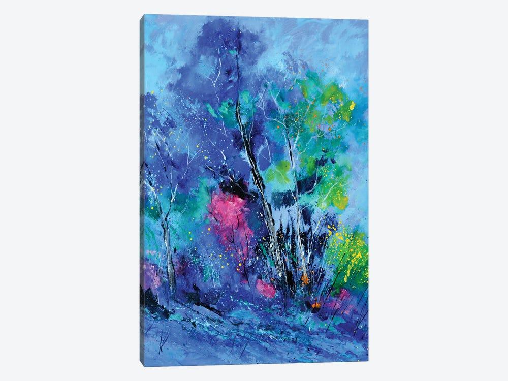 Blue Trees by Pol Ledent 1-piece Canvas Art