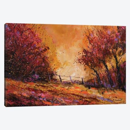 Autumn Light Canvas Print #LDT223} by Pol Ledent Canvas Wall Art