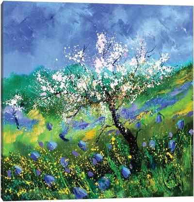 Blossoming Apple Tree Canvas Art Print