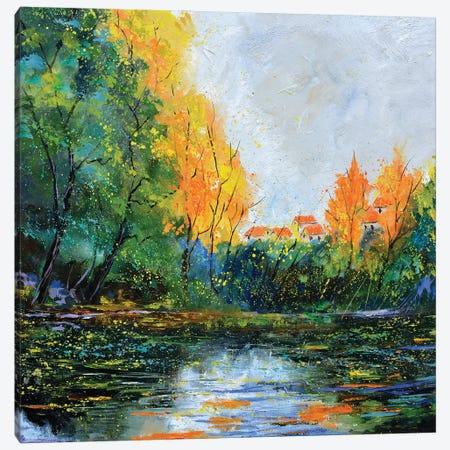 Pond In Autumn - 772021 Canvas Print #LDT241} by Pol Ledent Canvas Artwork