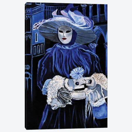 Venitian Mask Canvas Print #LDT243} by Pol Ledent Canvas Art