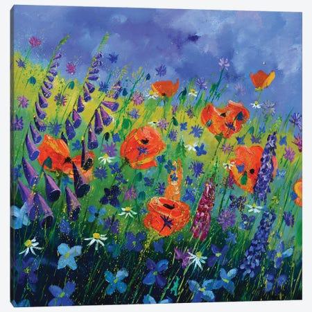 Garden Flowers - Orange Poppies Canvas Print #LDT250} by Pol Ledent Art Print