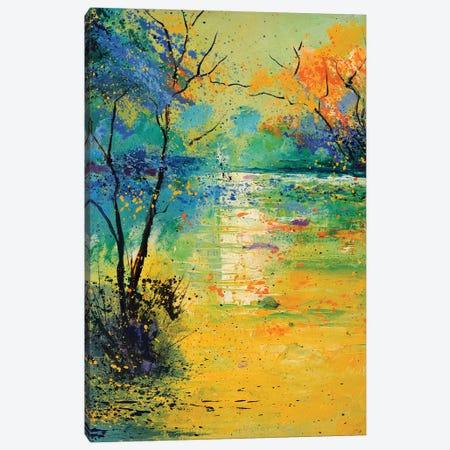 Light On A Pond Canvas Print #LDT252} by Pol Ledent Art Print
