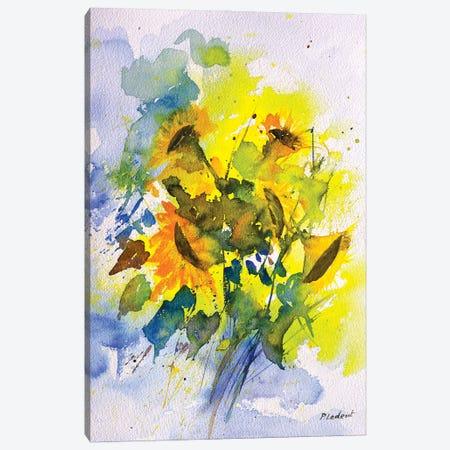 A Few Sunflowers Canvas Print #LDT269} by Pol Ledent Canvas Artwork