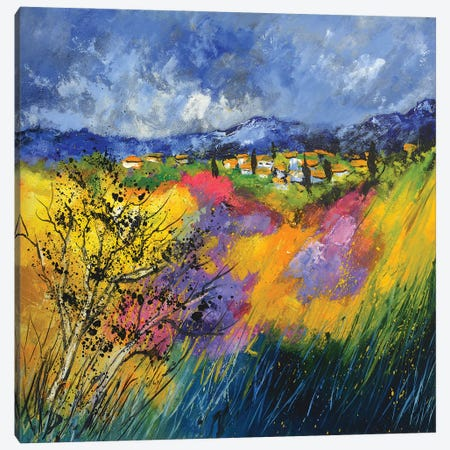 Windy Provence Canvas Print #LDT26} by Pol Ledent Canvas Wall Art