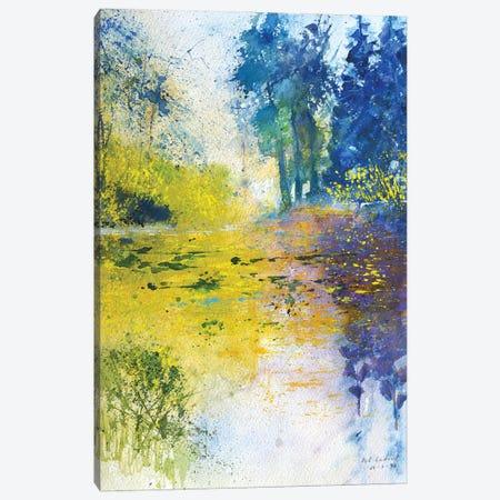 Yellow Pond Canvas Print #LDT271} by Pol Ledent Canvas Art Print