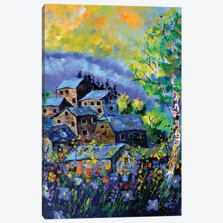 A Few Old Houses In Summer Canvas Print #LDT274} by Pol Ledent Canvas Artwork