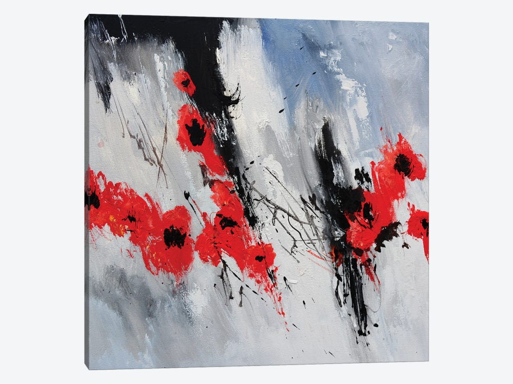 Flying Poppies by Pol Ledent 1-piece Canvas Art