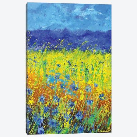 Blue Cornflowers Canvas Print #LDT284} by Pol Ledent Canvas Art Print