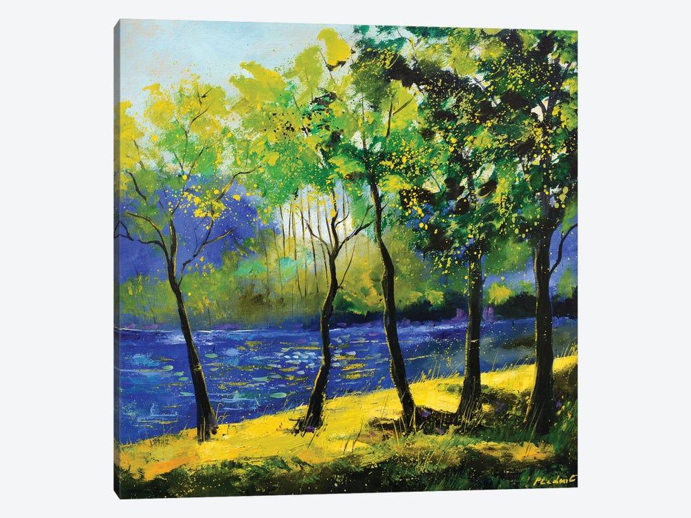 Blue River by Pol Ledent 1-piece Canvas Art