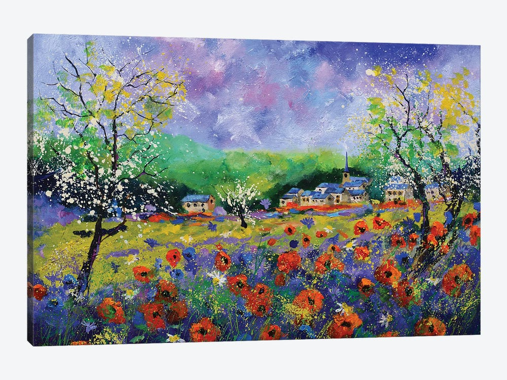 Poppies In Houroy by Pol Ledent 1-piece Canvas Art Print
